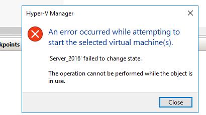 change state error