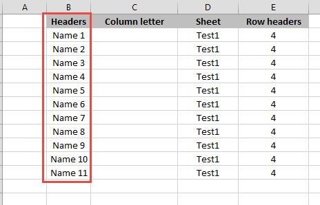 Dbase sheet sample
