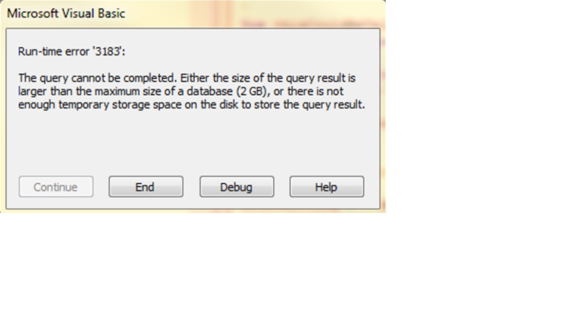 Using MS Access 2013 to move a large input  txt file with fixed