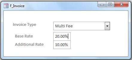 F_Invoice.  Form for Invoice