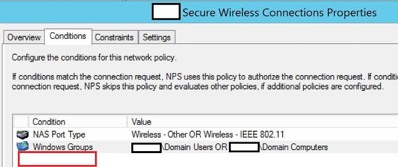 Network Policy Conditions