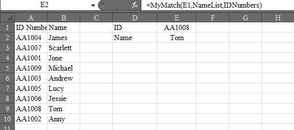 UDF_IndexMatch