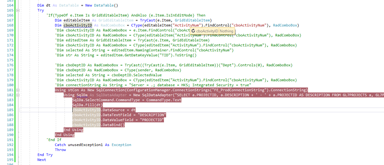 Bind radComboBox within a radGrid's automatic Edit Form?