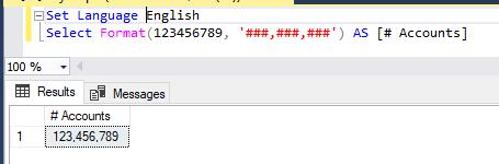 formatting with english language = comma separators