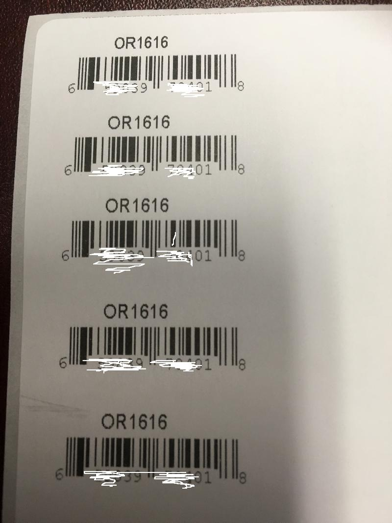 multiple smaller labels 1 x 2 printed on 4 by 6