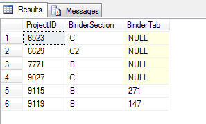 Values returned by commented out section