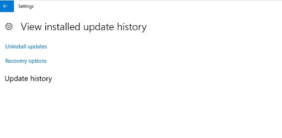 Update history empty