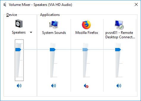 Volume Mixer.