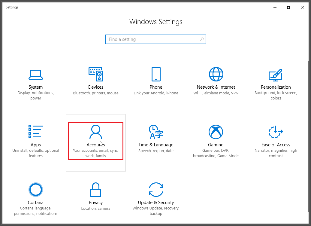 Create a new Microsoft Account User Profile in Windows 10