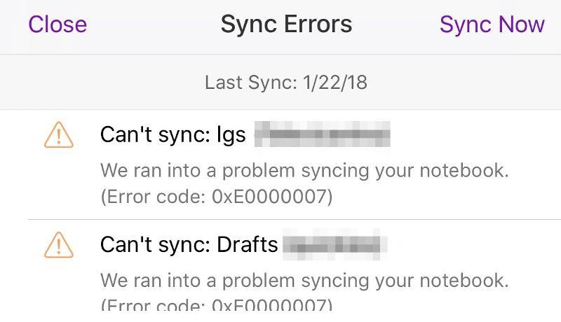 No sync