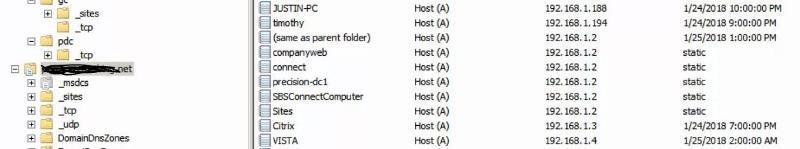 DNS entries....no MX at all.