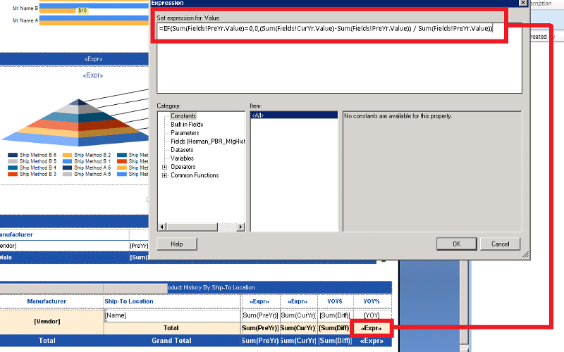 SSRS Report Design with new Expression