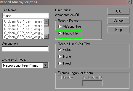 How to call one macro inside of another macro in iSeries