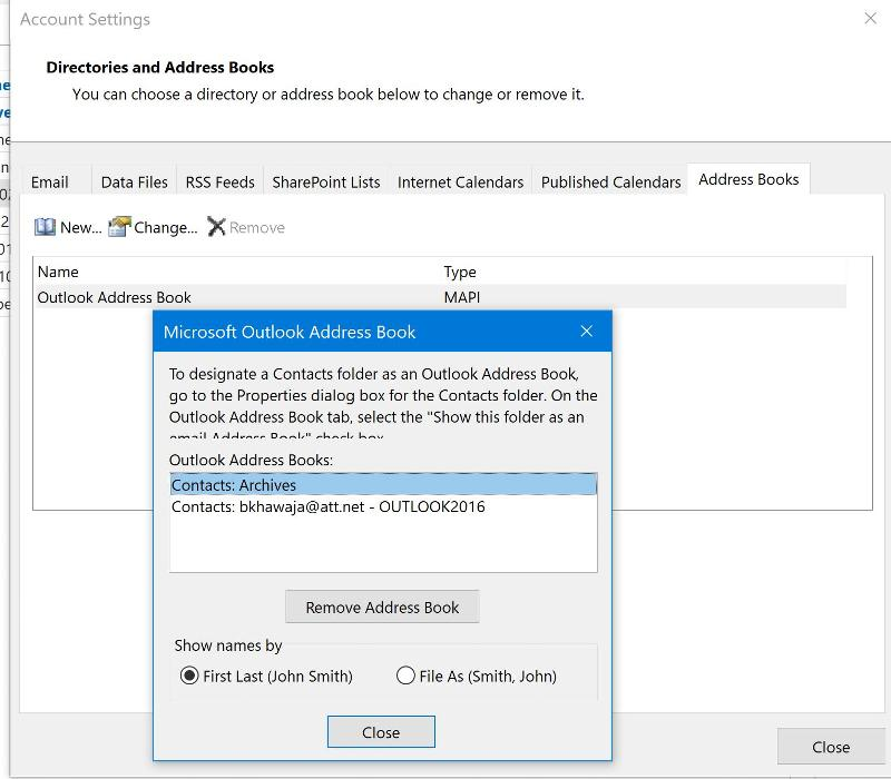 Outlook Address Book-MAPI-Archives