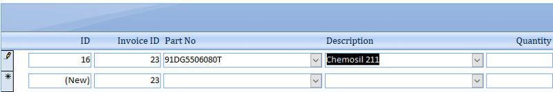 Invoice Detail Form