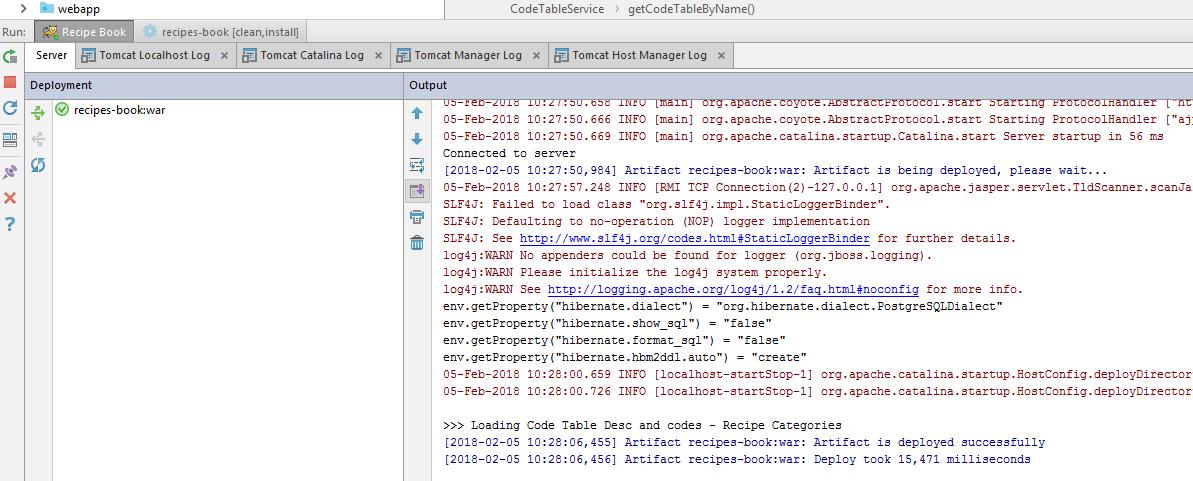 Tomcat 8 0 35 running, web application WAR successfully
