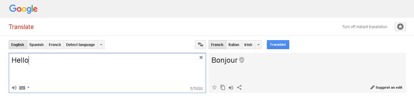 English To Italian Translator Google: Google Translator With Microsoft Access VBA