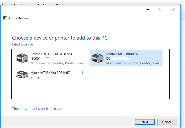 Add printers