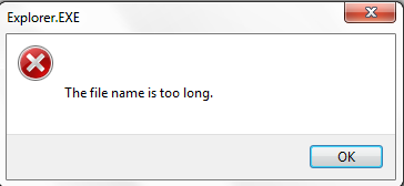 """msg: """"The file name is too long"""""""