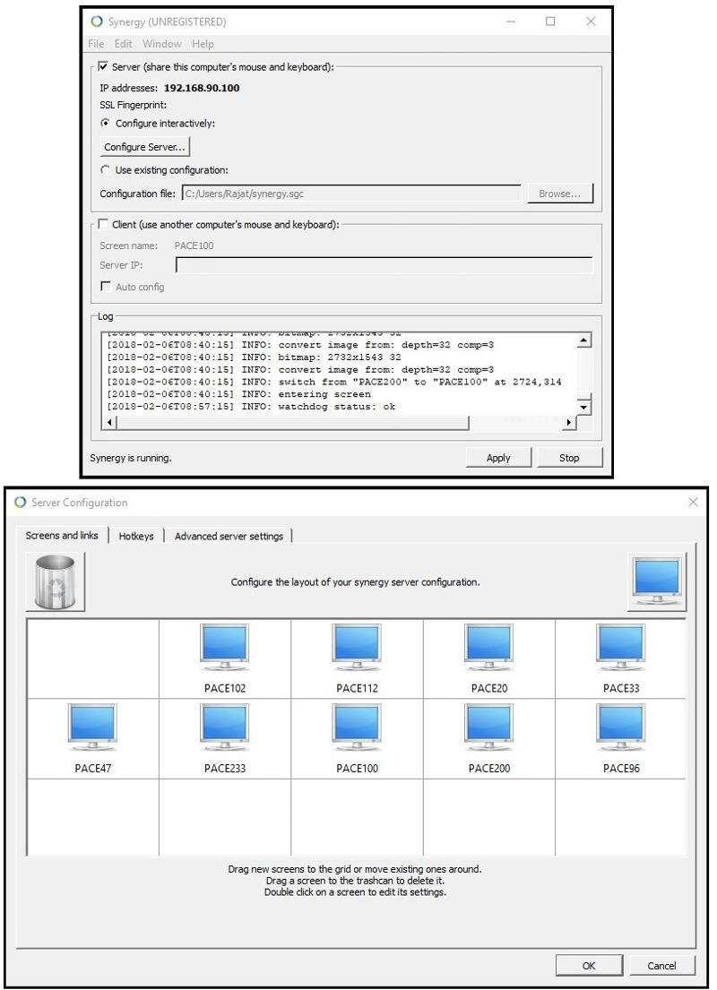 Synergy Server Config.