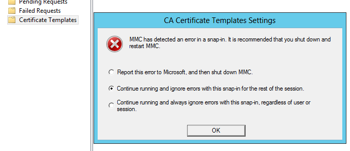 Certificate authority templates could not be loaded dc5 ca errorg yelopaper Choice Image