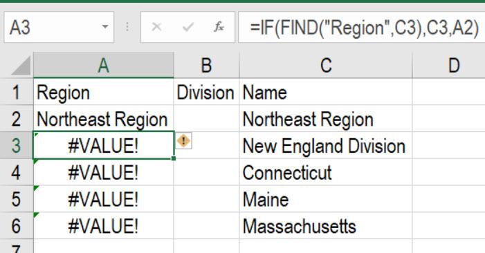 Region Formula