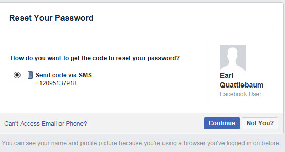 Cannot login into Facebook on phone restored from backup