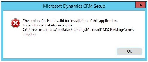 CRM 2015 Install error