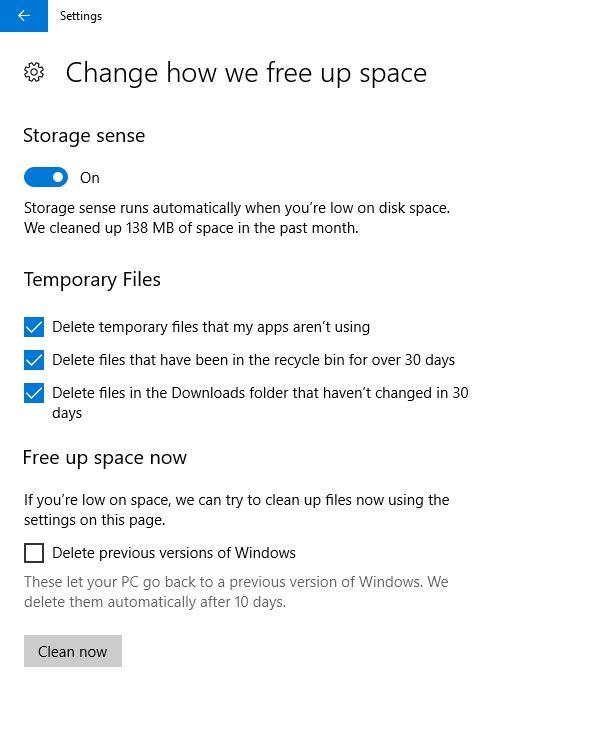 Pc Auto File Delete Settings