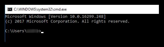Windows 10 Command Box