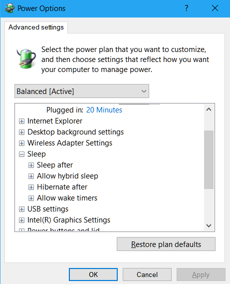 Windows-10-Power-Options
