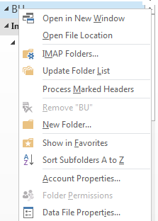 Outlook will not expand all the sub-folders and gives an