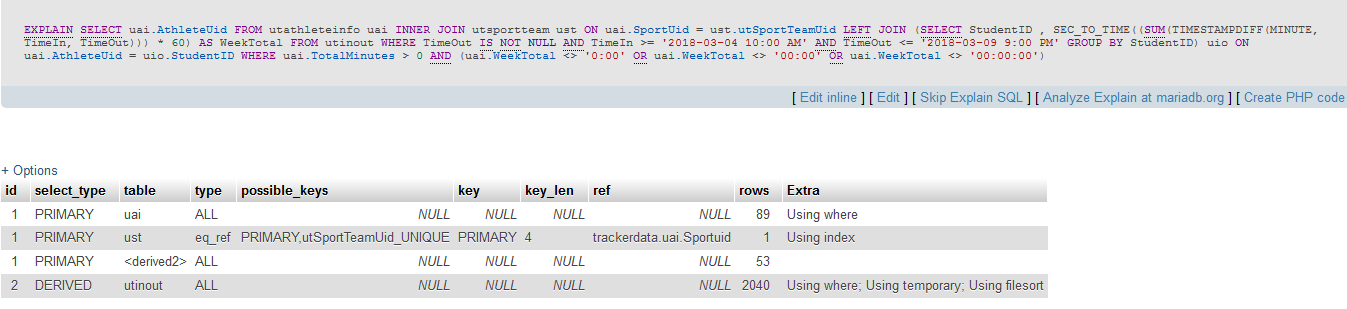 Why is my MYSQL statement timeing out all of a sudden?