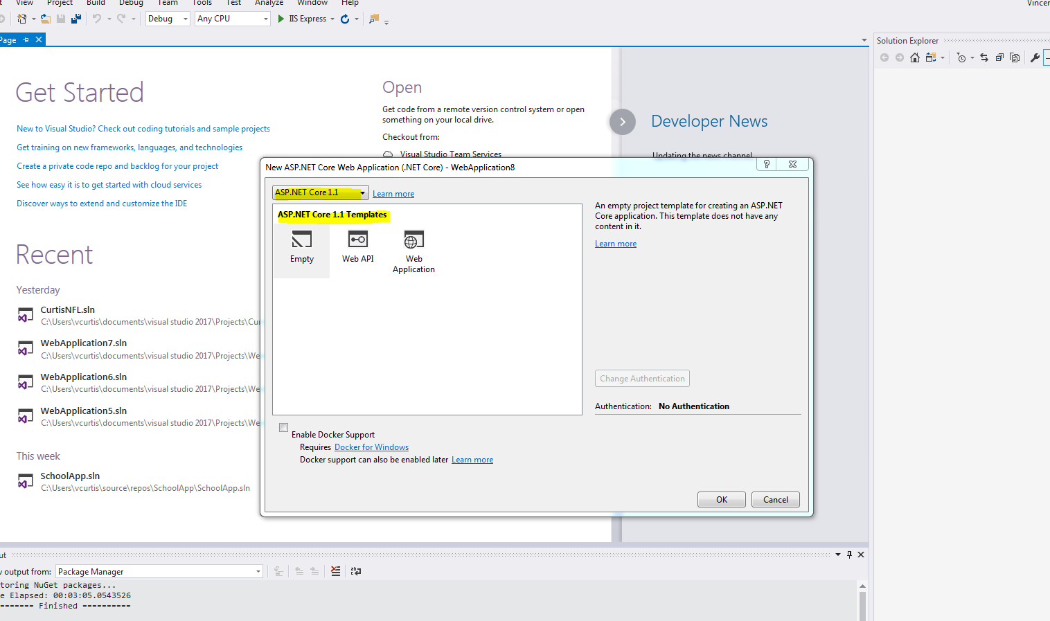 Having Issues Populating Aps Core 21 In The Template Even