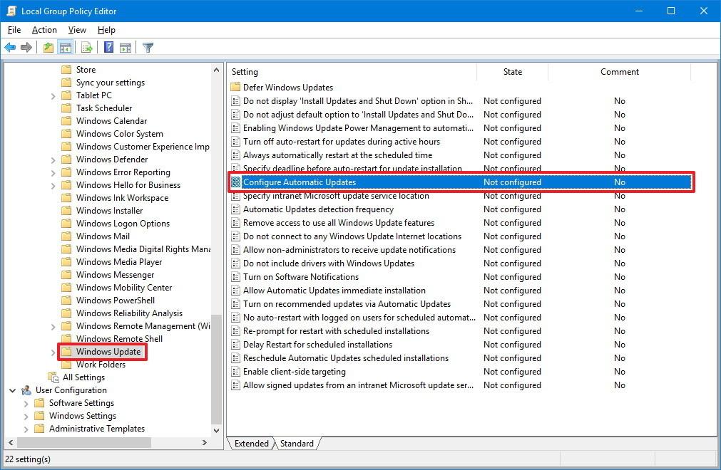 windows 10 pro stop automatic updates