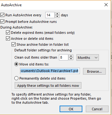 Achive1 is 1.8 gigs located in documents\outlook files\       I can't view the contents of this PST
