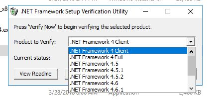 I am unable to get the right version of  NET installed to