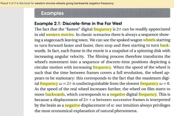 Western movies show negative digital frequencies.