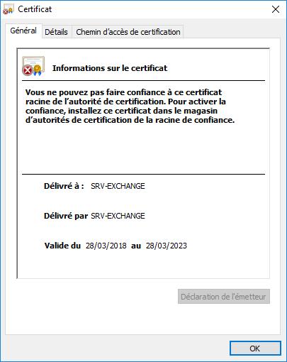 Autosigned Certificate