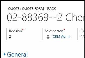 Quote: Form Type Locked