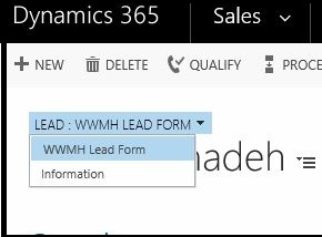 Lead: Form Type Toggles