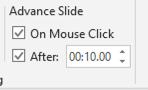 timing settings