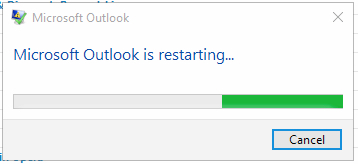 Microsoft Outlook 2016 from Office 365 keeps crashing with a message