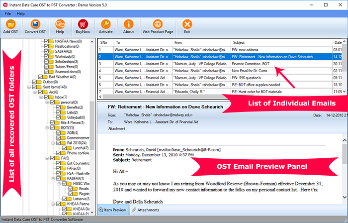 IDC OST to PST Conversion Software
