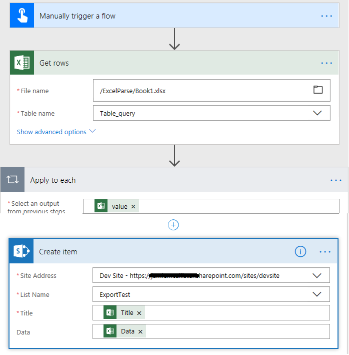 Flow to Parse Excel into SharePoint List