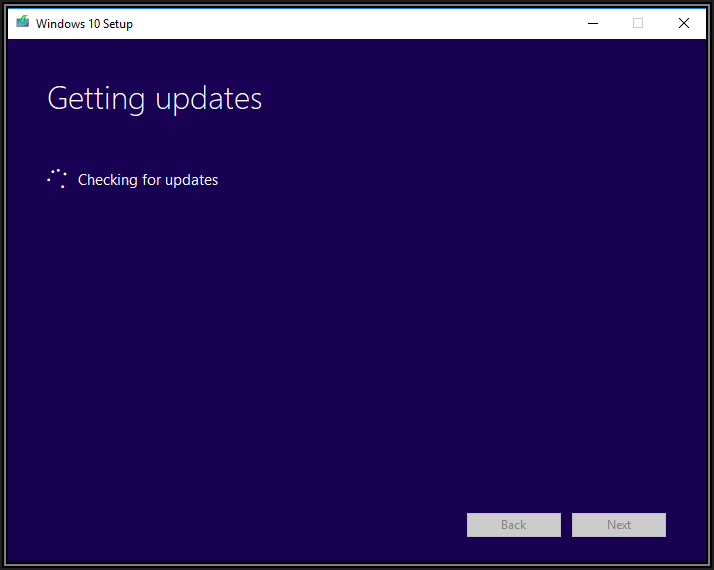 Screenshot of Getting updates progress box