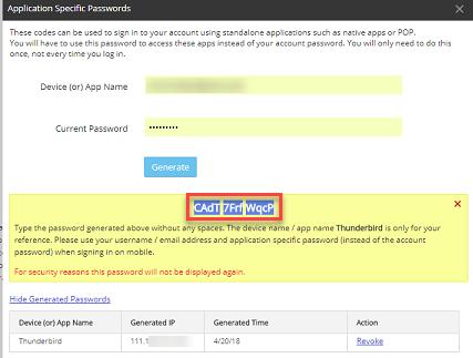 Generated Password