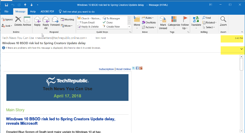 Outlook-2016-Display-Message-Time