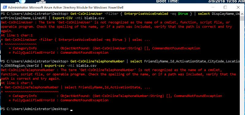PowerShell-errors