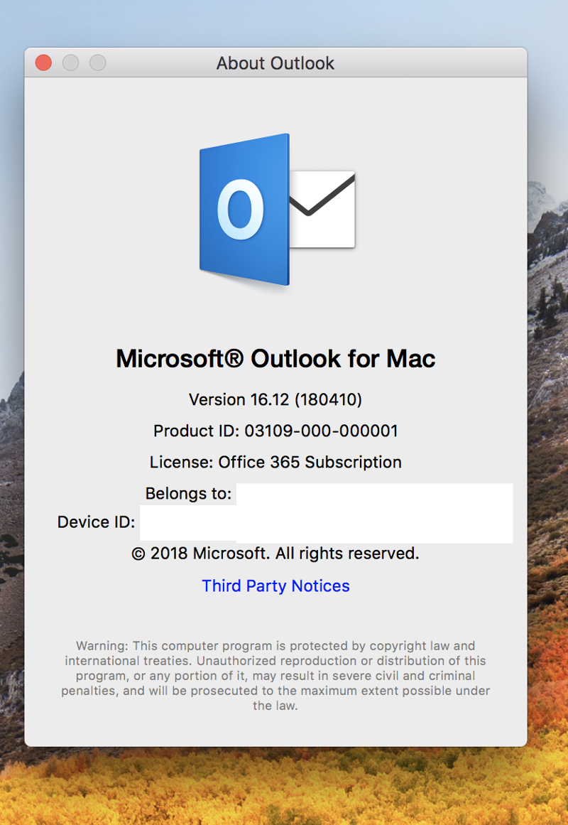 Mac-Outlook-Version